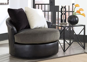 Armant Ebony Swivel Accent Chair,Signature Design by Ashley
