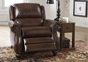 Elberton DuraBlend Espresso Low Leg Recliner,Signature Design by Ashley