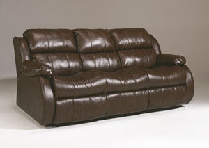 DuraBlend Cafe Reclining Sofa w/Drop Down Table