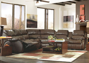 DuraBlend Cafe Reclining Sectional,Millennium