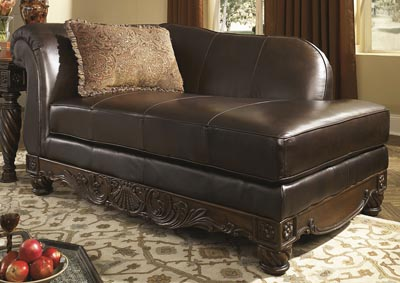 North Shore Dark Brown Corner Chaise,Millennium