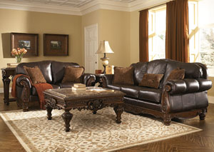 North Shore Dark Brown Sofa & Loveseat,Millennium
