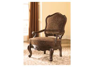 North Shore Dark Brown Showood Accent Chair,Millennium
