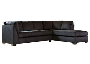 McCamey Black Right Facing Corner Chaise Sectional