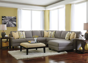 Chamberly Alloy Right Arm Facing Chaise End Extended Sectional,Signature Design by Ashley