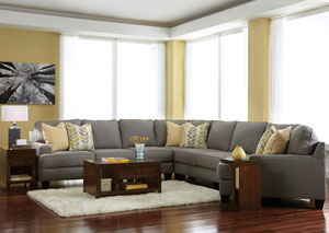 Chamberly Alloy Cuddler End Extended Sectional,Signature Design by Ashley