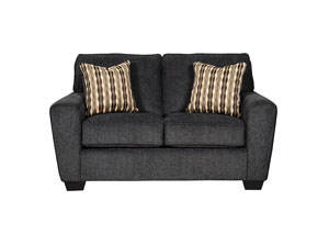 Landoff Black Loveseat