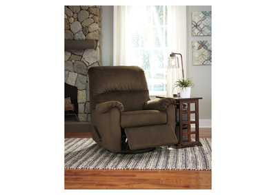 Bronwyn Cocoa Swivel Glider Recliner,Signature Design by Ashley