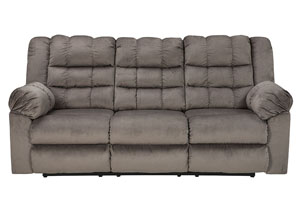 Mort Charcoal Reclining Sofa,Signature Design by Ashley