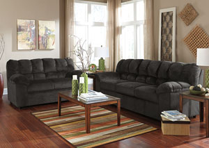 Julson Ebony Sofa & Loveseat,Signature Design by Ashley