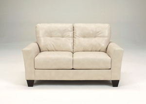 Paulie DuraBlend Taupe Loveseat