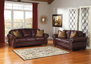 Hessel Redwood Sofa and Loveseat