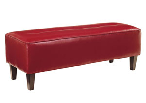 Sinko Scarlet Oversized Accent Ottoman,Signature Design by Ashley