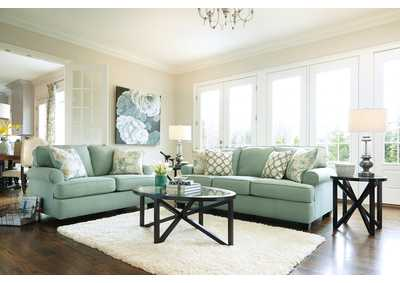 Daystar Seafoam Sofa & Loveseat,Signature Design by Ashley