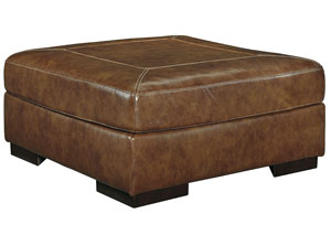 Vincenzo Nutmeg Oversized Accent Ottoman,Signature Design by Ashley