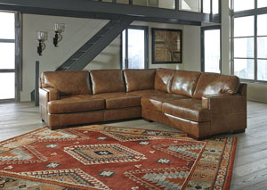 Vincenzo Nutmeg Right Facing Loveseat Sectional