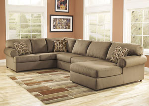 Cowan Mocha Right Facing Chaise End Sectional,Signature Design by Ashley