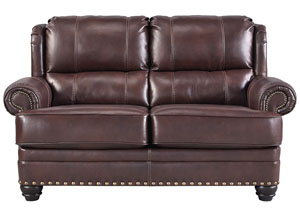 Glengary Chestnut Loveseat,Signature Design by Ashley