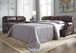Glengary Chestnut Queen Sofa Sleeper,Signature Design by Ashley