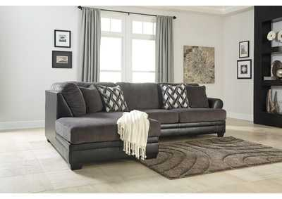 Kumasi Smoke Sectional w/Left Facing Corner Chaise
