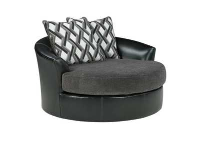 Kumasi Smoke Oversized Swivel Accent Chair,Benchcraft