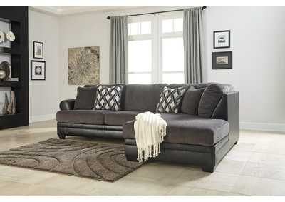 Kumasi Smoke Sectional w/Right Facing Corner Chaise