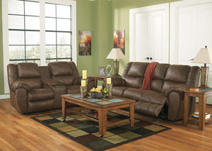 Quarterback Canyon Reclining Sofa & Loveseat,Benchcraft