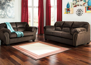 Kinlock Chocolate Sofa and Loveseat