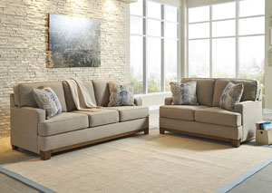 Hillsway Pebble Sofa and Loveseat