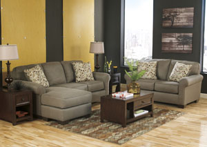 Danely Dusk Sofa Chaise & Loveseat
