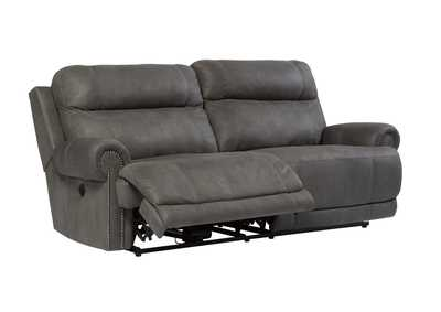 Austere Gray 2 Seat Reclining Power Sofa,Signature Design by Ashley