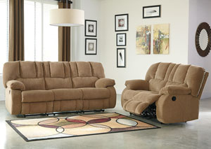 Roan Mocha Reclining Sofa & Loveseat