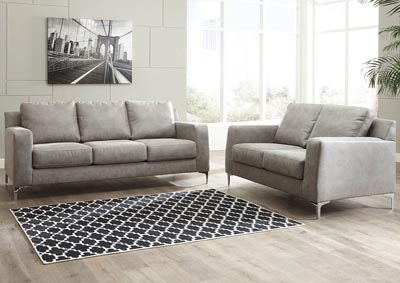 Malchin Navy Sofa and Loveseat