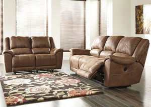 Niarobi Saddle Reclining Sofa & Loveseat