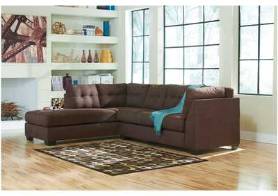 Maier Walnut Left Arm Facing Chaise End Sectional,Benchcraft
