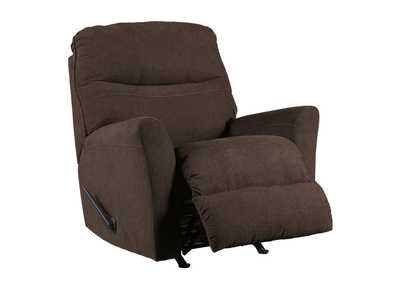 Maier Walnut Rocker Recliner,Benchcraft