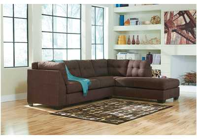 Maier Walnut Right Arm Facing Chaise End Sectional