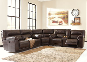 Barrettsville DuraBlend® Power Reclining Sectional,Benchcraft