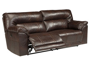 Barrettsville DuraBlend® Chocolate 2 Seat Reclining Power Sofa,Benchcraft