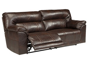 Barrettsville DuraBlend® Chocolate 2 Seat Reclining Sofa,Benchcraft