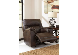 Barrettsville DuraBlend® Chocolate Power Rocker Recliner,Benchcraft