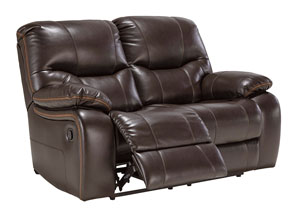 Pranas Brindle Reclining Loveseat,Signature Design by Ashley