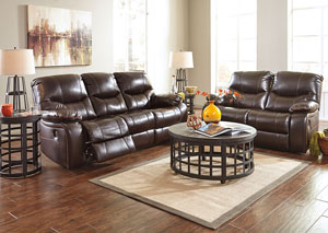 Pranas Brindle Reclining Sofa & Loveseat,Signature Design by Ashley