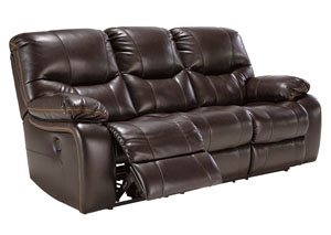 Pranas Brindle Reclining Sofa,Signature Design by Ashley