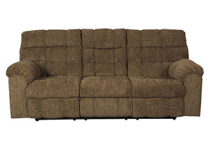 Antwan Truffle Reclining Sofa w/Drop Down Table