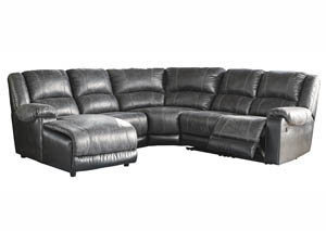 Nantahala Slate Left Facing Corner Chaise Sectional