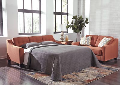 Menga Rust Queen Sofa Sleeper