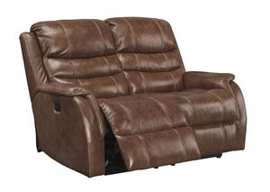 Metcalf Nutmeg Power Recliner Loveseat