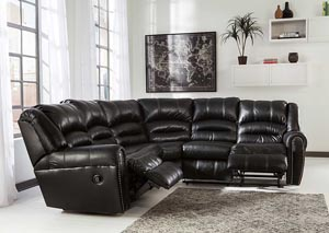 Manzanola Black Reclining Sectional