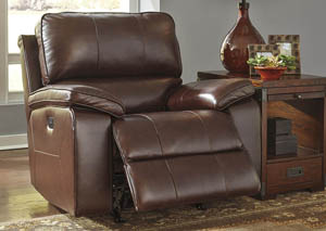 Transister Coffee Power Reclining Rocker Recliner w/Adjusting Headrest